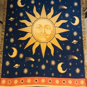 Sun Moon Star Space Blanket Double Sided Celestial